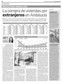 Compra de viviendas por extranjeros en Andalucía